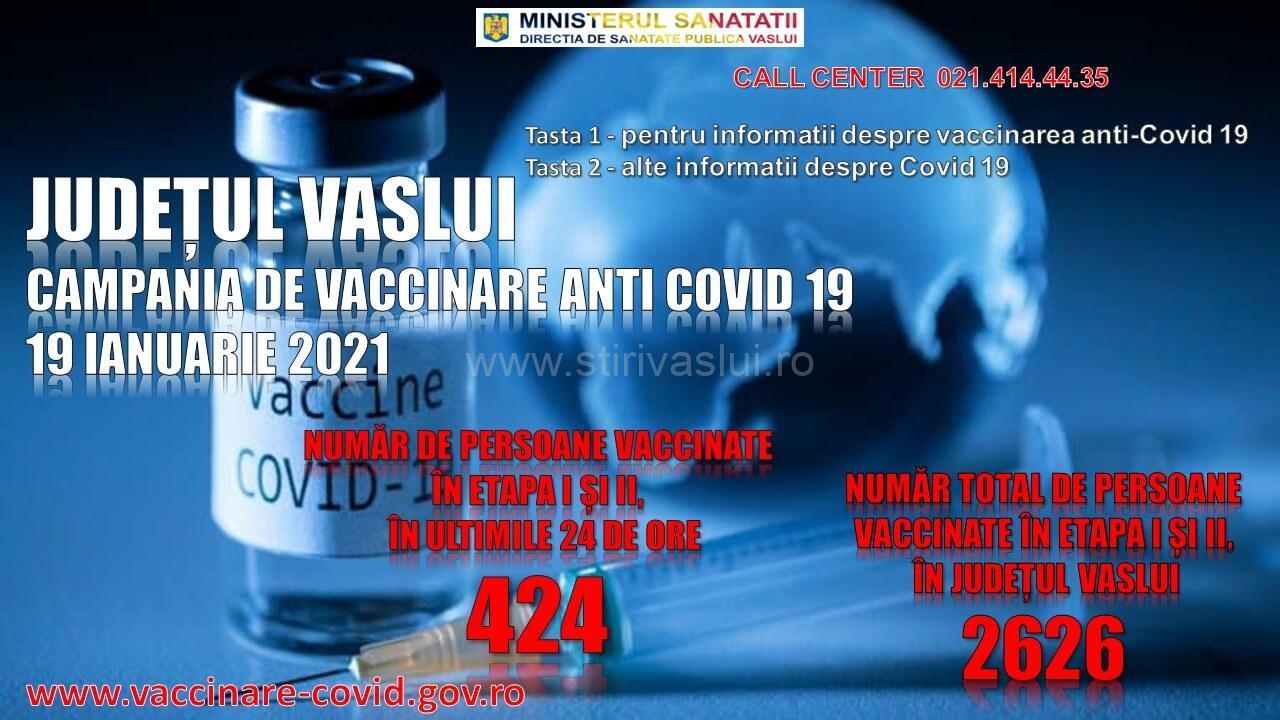Trei centre de vaccinare anti-COVID în Vaslui, Bârlad și Huși