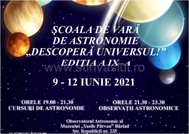 """Ediția a IX-a a Şcolii de vară de Astronomie """"Descoperă Universul!"""""""