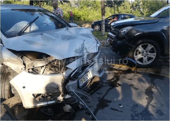 Accident rutier în Bârlad, pe Bulevardul Republicii