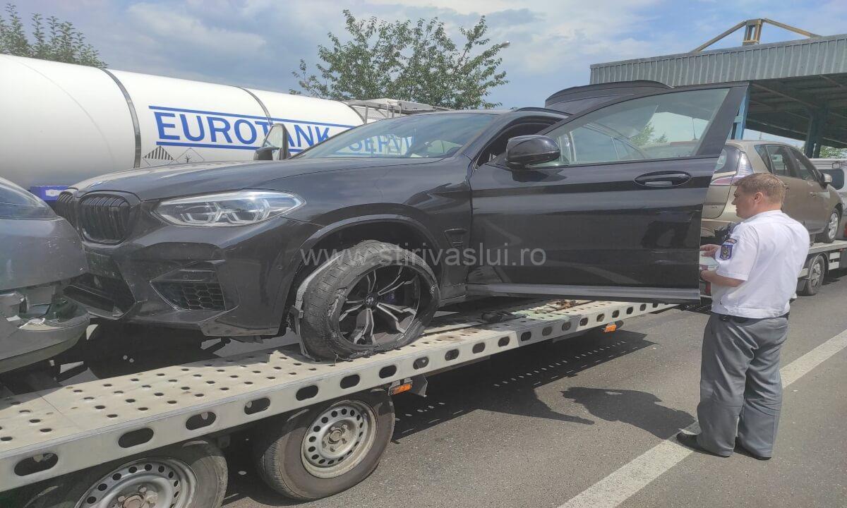 BMW X4M Competition furat din Belgia, confiscat la Albiţa