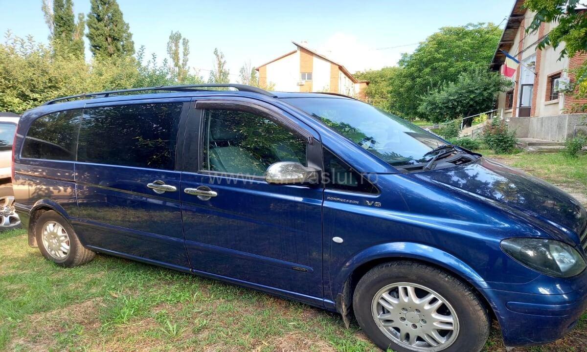 Mercedes Viano furat din Cehia, descoperit la Albița