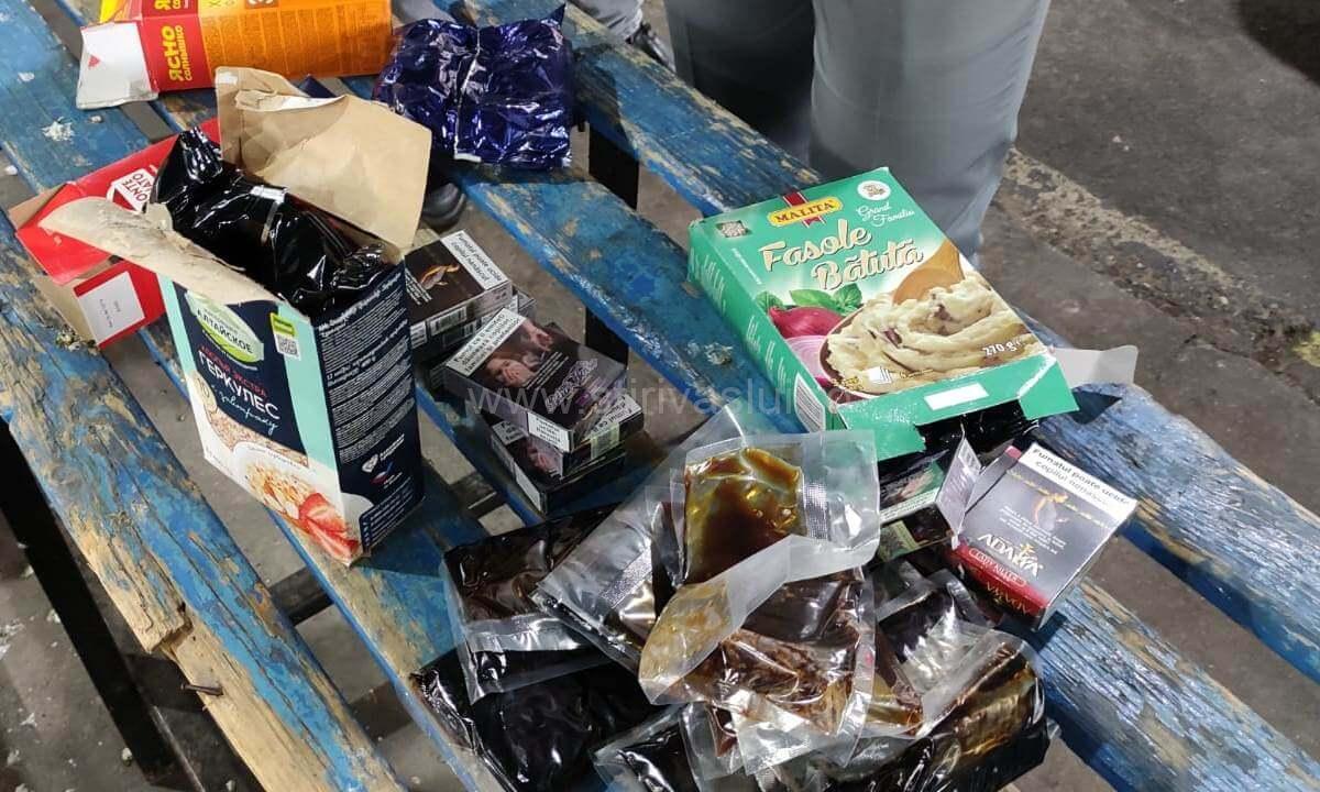 Nouă kilograme de tutun ascunse în cutii pentru alimente, descoperite la frontieră