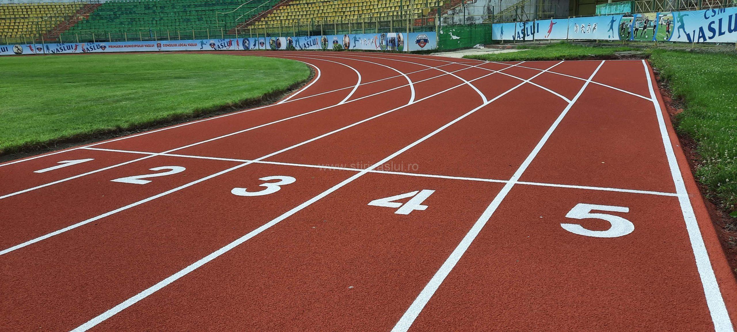 Pista de alergare a Stadionului municipal Vaslui a fost reabilitată 2