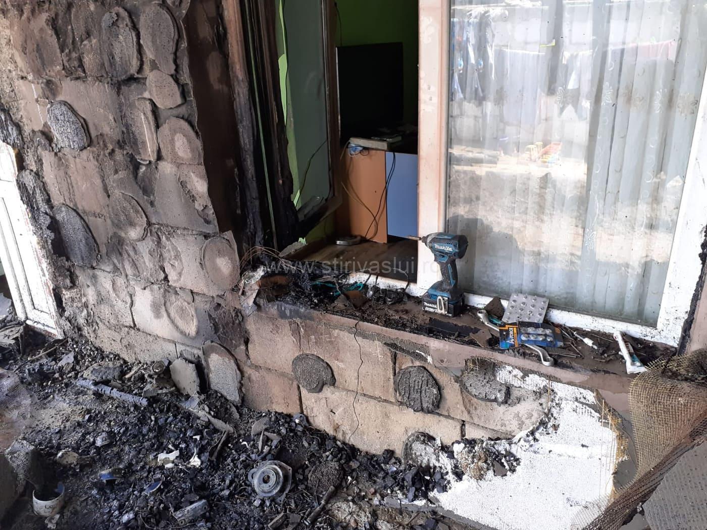 Verificați instalațiile electrice! O gospodărie din Bârlad făcută scrum de un scurtcircuit electric